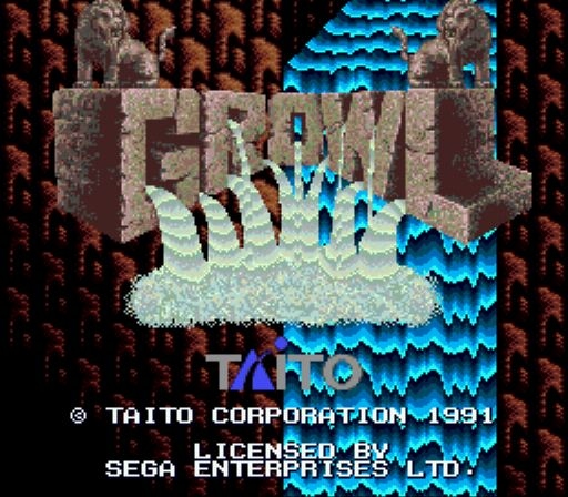 une photo d'écran de Growl sur Sega Megadrive
